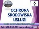 Pisma sprawy, informacje dotyczące ochrony środowiska, przyr Gdańsk