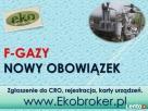 Fgazy, rejestracja w CRO, tel 502-032-782, f-gazy, dokumenta Szczecin