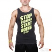 TREC WEAR MENS - STOP - TANK TOP 010/GRAPHITE