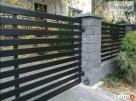 Przęsło ogrodzeniowe , nowoczesne ogrodzenie , blacha , - 2