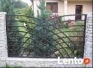 Przęsło ogrodzeniowe , nowoczesne ogrodzenie , blacha , - 5