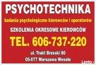 PSYCHOTECHNIKA-Lekarz medycyny pracy-Kursy kierowców zawodow