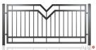 Przęsło ogrodzeniowe, nowoczesny design, panel ogrodzeniowy