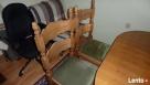 Stół rozkładany 100x160x200 + 4 krzesła z litego dębu stan b - 4