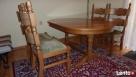 Stół rozkładany 100x160x200 + 4 krzesła z litego dębu stan b - 3