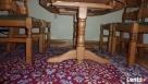Stół rozkładany 100x160x200 + 4 krzesła z litego dębu stan b - 2