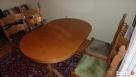 Stół rozkładany 100x160x200 + 4 krzesła z litego dębu stan b - 8