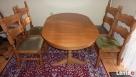 Stół rozkładany 100x160x200 + 4 krzesła z litego dębu stan b - 6