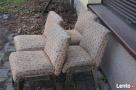 4 Krzesła AGA, Fotel AGA , Krzesło PRL, Meble PRL, Art deco - 2