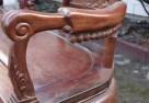 Drewniana unikatowa ławka z marmurową wstawką - 3
