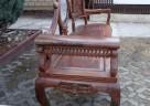 Drewniana unikatowa ławka z marmurową wstawką - 6