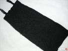 Czarna Sukienka Tuba Gnieciona HIT 38 M Ołówkowa