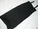 Czarna Sukienka Tuba Gnieciona HIT 38 M Ołówkowa - 4