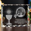 Piękny kryształ 3D ze zdjęciem jako prezent na I Komunię - 1