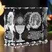 Piękny kryształ 3D ze zdjęciem jako prezent na I Komunię - 2