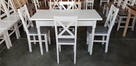 Krzesło prowansalskie twarde białe/siwe Producent nowe - 1