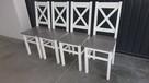 Krzesło prowansalskie twarde białe/siwe Producent nowe - 3