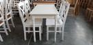 Komplet prowansalski-stół biały + 4 krzesła Krzyż nowy - 2