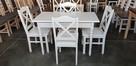 Komplet prowansalski-stół biały + 4 krzesła Krzyż nowy - 3