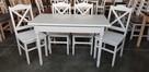 Komplet prowansalski-stół biały + 4 krzesła Krzyż nowy - 1