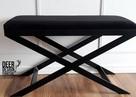 Siedzisko ławka do przedpokoju tapicerowana, ławeczka stal - 7