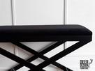Siedzisko ławka do przedpokoju tapicerowana, ławeczka stal - 2