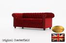 Chesterfield sofa 3 os Fluweel z zamszu - 2