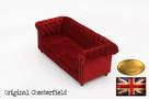 Chesterfield sofa 3 os Fluweel z zamszu - 3