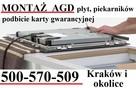 Podłączenie montaż płyty piekarnika AGD ELEKTRYK pieczątka