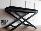 Siedzisko ławka do przedpokoju tapicerowana, ławeczka stal - 1