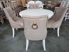 Krzesło tapicerowane pikowane z kołatką i z ćwiekami glamour