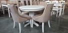 Krzesło pikowane z kołatką i pinezkami Producent glamour - 1