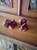 2 pieski wykonane z kafla lata 60