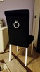 Krzesło z kołatką tapicerowane wygodne nowe producent nowe - 3