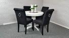 Krzesło z kołatką tapicerowane wygodne nowe producent nowe - 6