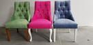 krzesło chesterfield glamour pikowane nowe z kołatką mocne - 2