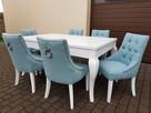 krzesło chesterfield glamour pikowane nowe z kołatką mocne - 4