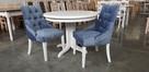 krzesło chesterfield glamour pikowane nowe z kołatką mocne - 3