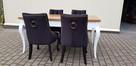 Krzesło pikowane z kolatką Noga LUDWIK Producent nowe - 3
