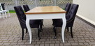 Krzesło pikowane z kolatką Noga LUDWIK Producent nowe - 2