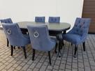 Krzesło pikowane z kolatką Noga LUDWIK Producent nowe - 4