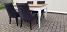 Krzesło pikowane z kolatką Noga LUDWIK Producent nowe