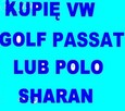 Kupię vw golf IV, V, sharan, lupo, passat B5, B6, polo