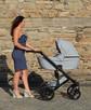 Nowy Wózek Dziecięcy Berco Skóra 3w1 z fotelem (nosidełko) - 1