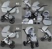 Nowy Wózek Dziecięcy Berco Skóra 3w1 z fotelem (nosidełko) - 3