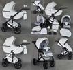 Nowy Wózek Dziecięcy Berco Skóra 3w1 z fotelem (nosidełko) - 5