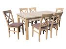 Stół DAVIDOF i 6 Krzeseł EMMA | Furnideco