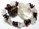 Bransoletka granat kryształ górski mix mała lub duża sieczka - 4