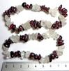 Bransoletka granat kryształ górski mix mała lub duża sieczka - 2