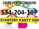 ZAREJESTROWANE KARTY SIM Zarejestrowana karta RejestracjaSIM